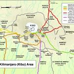 Kilimanjaro route map