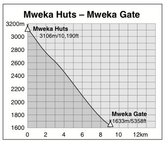 Mweka Huts to Mweka Gate