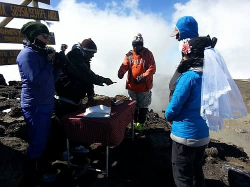First wedding performed on top of Kilimanjaro