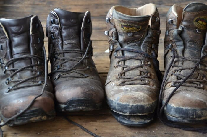 Henry's old trekking boots