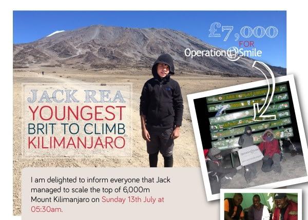 Jack Rea on Kilimanjaro