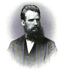 A heavily bearded Charles New, of Kilimanjaro fame