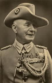 Paul von Lettow Vorbeck in full ceremonial uniform including a chestful of medals