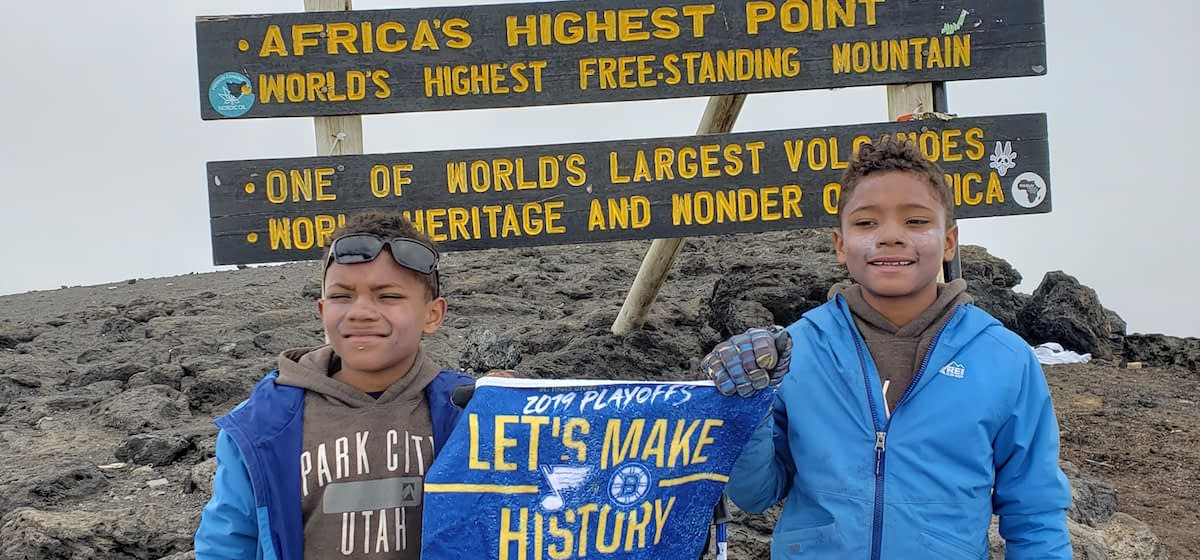 Record-breaking Loynd twins, the youngest ten-year-olds to reach the summit of Kilimanjaro