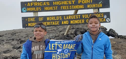 Ten-year-old twins climb to the summit of Kilimanjaro