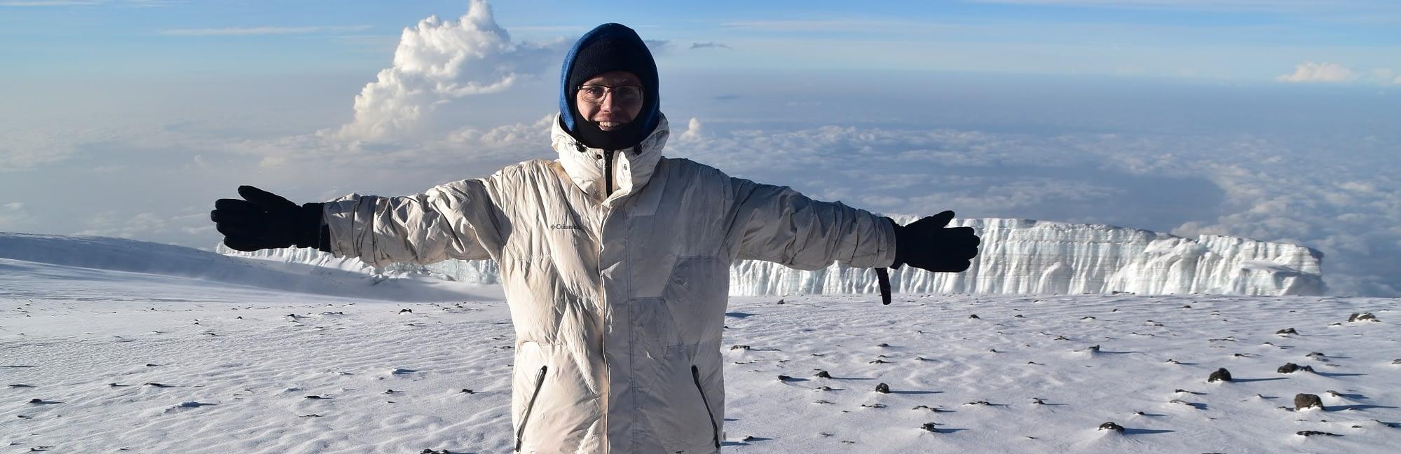 Enjoying the summit of Kilimanjaro